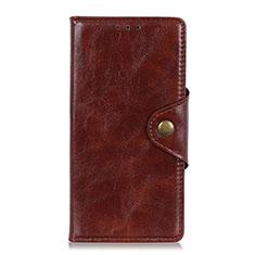 Custodia Portafoglio In Pelle Cover con Supporto L11 per Huawei Y5p Marrone