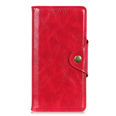 Custodia Portafoglio In Pelle Cover con Supporto L11 per Huawei Y5p Rosso