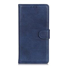 Custodia Portafoglio In Pelle Cover con Supporto L11 per Motorola Moto Edge Blu