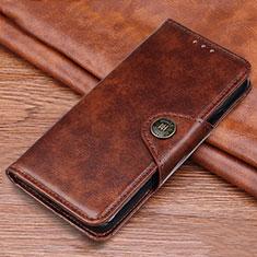 Custodia Portafoglio In Pelle Cover con Supporto L11 per Samsung Galaxy M21s Marrone