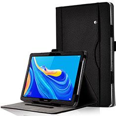 Custodia Portafoglio In Pelle Cover con Supporto L12 per Huawei MediaPad M6 10.8 Nero