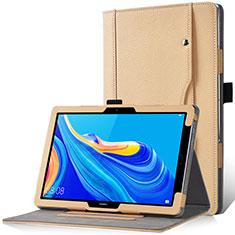 Custodia Portafoglio In Pelle Cover con Supporto L12 per Huawei MediaPad M6 10.8 Oro