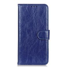 Custodia Portafoglio In Pelle Cover con Supporto L12 per Huawei Y5p Blu