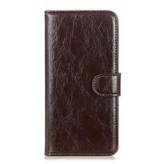 Custodia Portafoglio In Pelle Cover con Supporto L12 per Huawei Y5p Marrone