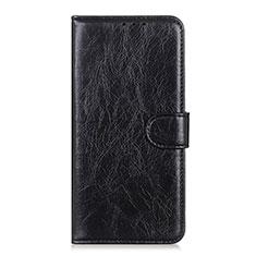 Custodia Portafoglio In Pelle Cover con Supporto L12 per Huawei Y5p Nero
