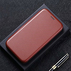 Custodia Portafoglio In Pelle Cover con Supporto L12 per LG K92 5G Marrone