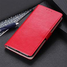 Custodia Portafoglio In Pelle Cover con Supporto L12 per Motorola Moto Edge Rosso