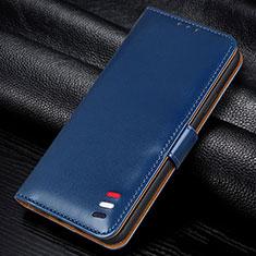 Custodia Portafoglio In Pelle Cover con Supporto L12 per Samsung Galaxy M21s Blu