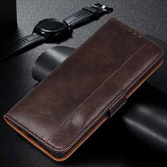 Custodia Portafoglio In Pelle Cover con Supporto L14 per Samsung Galaxy M21s Marrone