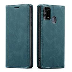 Custodia Portafoglio In Pelle Cover con Supporto L15 per Samsung Galaxy M21s Verde