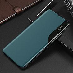 Custodia Portafoglio In Pelle Cover con Supporto L15 per Xiaomi Redmi K30S 5G Ciano