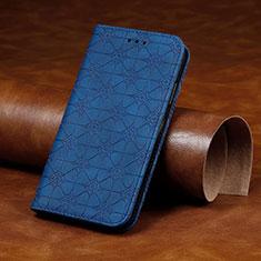 Custodia Portafoglio In Pelle Cover con Supporto L17 per Huawei Y7p Blu