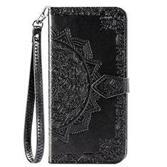 Custodia Portafoglio In Pelle Cover con Supporto L18 per Huawei Y7p Nero