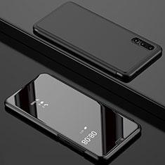Custodia Portafoglio In Pelle Cover con Supporto Laterale Specchio Cover L02 per Huawei P20 Pro Nero