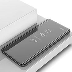Custodia Portafoglio In Pelle Cover con Supporto Laterale Specchio Cover L02 per Samsung Galaxy S10 Nero