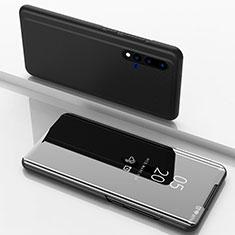 Custodia Portafoglio In Pelle Cover con Supporto Laterale Specchio Cover L03 per Huawei Nova 5 Nero