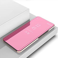 Custodia Portafoglio In Pelle Cover con Supporto Laterale Specchio Cover M01 per Huawei Nova 6 5G Oro Rosa