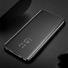 Custodia Portafoglio In Pelle Cover con Supporto Laterale Specchio Cover M03 per Samsung Galaxy S20 Plus 5G Nero