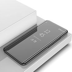 Custodia Portafoglio In Pelle Cover con Supporto Laterale Specchio Cover per Huawei Honor 8A Nero