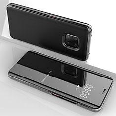 Custodia Portafoglio In Pelle Cover con Supporto Laterale Specchio Cover per Huawei Mate 20 Pro Nero