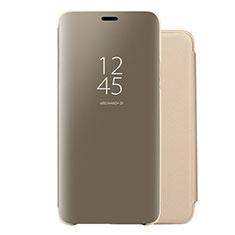 Custodia Portafoglio In Pelle Cover con Supporto Laterale Specchio Cover per Huawei Nova 5 Oro