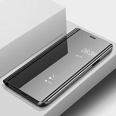 Custodia Portafoglio In Pelle Cover con Supporto Laterale Specchio Cover per Huawei P20 Lite Nero