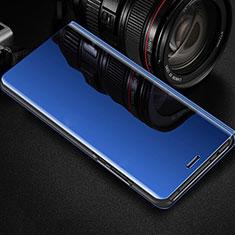 Custodia Portafoglio In Pelle Cover con Supporto Laterale Specchio Cover per Oppo R17 Pro Blu