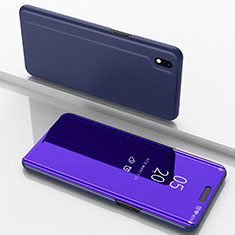 Custodia Portafoglio In Pelle Cover con Supporto Laterale Specchio Cover per Samsung Galaxy A10 Viola