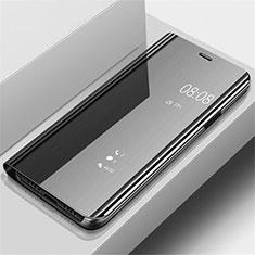 Custodia Portafoglio In Pelle Cover con Supporto Laterale Specchio Cover per Samsung Galaxy A70 Nero