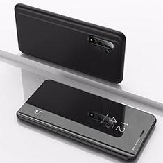 Custodia Portafoglio In Pelle Cover con Supporto Laterale Specchio Cover per Samsung Galaxy Note 10 5G Nero