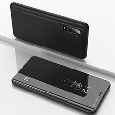 Custodia Portafoglio In Pelle Cover con Supporto Laterale Specchio Cover per Samsung Galaxy Note 10 Nero