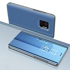 Custodia Portafoglio In Pelle Cover con Supporto Laterale Specchio Cover per Samsung Galaxy S9 Blu