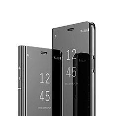 Custodia Portafoglio In Pelle Cover con Supporto Laterale Specchio Cover per Sony Xperia 1 Nero