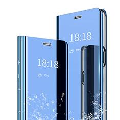 Custodia Portafoglio In Pelle Cover con Supporto Laterale Specchio Cover per Xiaomi Mi 6X Blu