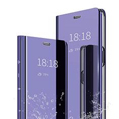 Custodia Portafoglio In Pelle Cover con Supporto Laterale Specchio Cover per Xiaomi Mi 6X Viola
