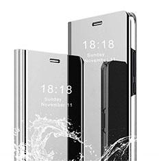 Custodia Portafoglio In Pelle Cover con Supporto Laterale Specchio Cover per Xiaomi Mi 8 Pro Global Version Argento