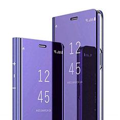 Custodia Portafoglio In Pelle Cover con Supporto Laterale Specchio Cover per Xiaomi Mi 8 Pro Global Version Viola