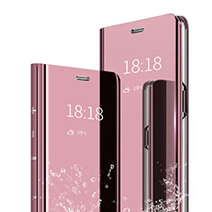 Custodia Portafoglio In Pelle Cover con Supporto Laterale Specchio Cover per Xiaomi Mi Max 3 Oro Rosa