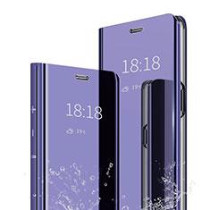 Custodia Portafoglio In Pelle Cover con Supporto Laterale Specchio Cover per Xiaomi Mi Max 3 Viola