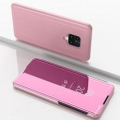 Custodia Portafoglio In Pelle Cover con Supporto Laterale Specchio Cover per Xiaomi Redmi 10X Pro 5G Oro Rosa