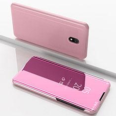Custodia Portafoglio In Pelle Cover con Supporto Laterale Specchio Cover per Xiaomi Redmi 8A Oro Rosa