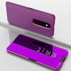 Custodia Portafoglio In Pelle Cover con Supporto Laterale Specchio Cover per Xiaomi Redmi K20 Pro Viola