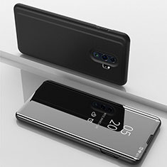 Custodia Portafoglio In Pelle Cover con Supporto Laterale Specchio Cover per Xiaomi Redmi Note 8 Pro Nero
