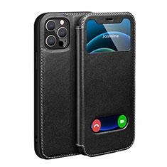 Custodia Portafoglio In Pelle Cover con Supporto N01 per Apple iPhone 12 Pro Max Nero