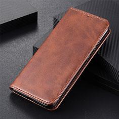 Custodia Portafoglio In Pelle Cover con Supporto N03 per Huawei P40 Marrone