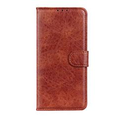 Custodia Portafoglio In Pelle Cover con Supporto N05 per Huawei P40 Marrone