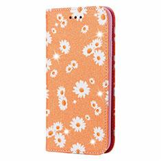 Custodia Portafoglio In Pelle Cover con Supporto N05 per Samsung Galaxy Note 20 Ultra 5G Arancione