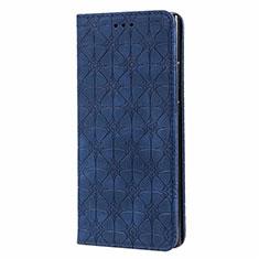 Custodia Portafoglio In Pelle Cover con Supporto N06 per Samsung Galaxy Note 20 Ultra 5G Blu