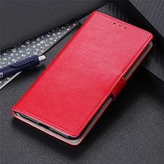 Custodia Portafoglio In Pelle Cover con Supporto N07 per Huawei P40 Rosso