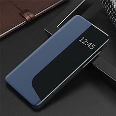 Custodia Portafoglio In Pelle Cover con Supporto N09 per Huawei P40 Blu